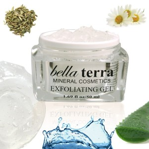 Vegan water based exfoliating gel made with botanical extracts